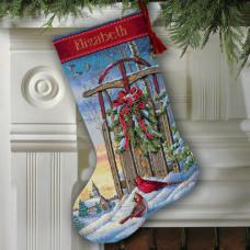 08819 Різдвяні санки. Чобіток.. Dimensions. Набір для вишивання нитками