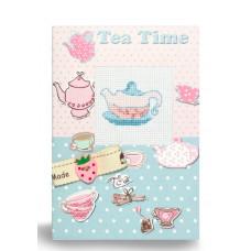 (S) P-10 Чаювання. Luca-S. Набір для виготовлення листівки повна збірка з вишивкою