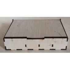 1215 Скринька органайзер. 1 шт/уп. Розмір 22*16*5 см. Декор з фанери