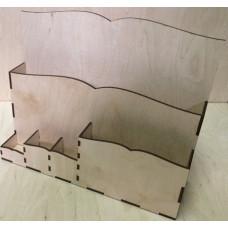 1216 Підставка-органайзер. 1 шт/уп. Розмір 32*26*10 см. Декор з фанери