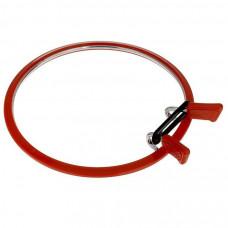 160-1/червоні П`яльця Nurge пружинні для вишивання і штопання, діаметр 195 мм, товщина 7,7 мм. Nurge