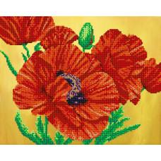 АК3-052 Квітка вогню. А-рядок . Схема на тканині для вишивання бісером