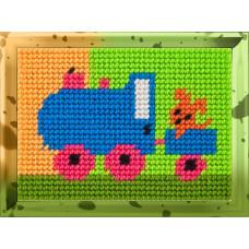 X2114 Паровозик. Bambini. Набір для вишивання нитками на канві з нанесеним малюнком