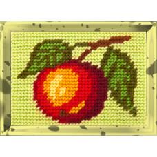 X2144 Яблуко. Bambini. Набір для вишивання нитками на канві з нанесеним малюнком