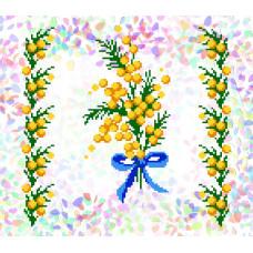 K224 Мімоза (21х29 см). Confetti. Водорозчинний флізелін з малюнком