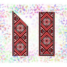 K251 Червоне і чорне (21х29 см). Confetti. Водорозчинний флізелін з малюнком