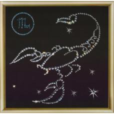 КС-005 Знак зодіаку Скорпіон. Crystal Art. Набір для виготовлення картини зі стразами