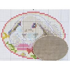 2014 Овал без підвісу. Alisena. Заготовка з фанери для вишивки хрестиком. Розмір 6*8 см