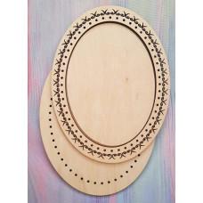 2026 Рамка для оформлення вишивки декоративна, овальна, внутрішній розмір рамки: 13*18см. Alisena