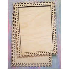 2031 Рамка для оформлення вишивки декоративна, прямокутна, внутрішній розмір рамки: 18*13см. Alisena