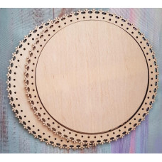 2035 Рамка для оформлення вишивки декоративна, кругла, внутрішній розмір рамки: 20*20см. Alisena