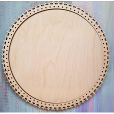 2036 Рамка для оформлення вишивки декоративна, кругла, внутрішній розмір рамки: 25*25см. Alisena