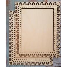 2045 Рамка для оформлення вишивки декоративна, прямокутна, внутрішній розмір рамки: 20*15см. Alisena