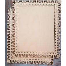 2046 Рамка для оформлення вишивки декоративна, прямокутна, внутрішній розмір рамки: 25*20см. Alisena