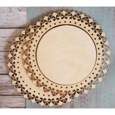 2048 Рамка для оформлення вишивки декоративна, кругла, внутрішній розмір рамки: 13*13см. Alisena