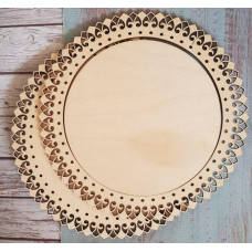 2049 Рамка для оформлення вишивки декоративна, кругла, внутрішній розмір рамки: 18*18см. Alisena