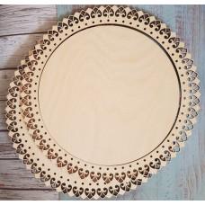 2050 Рамка для оформлення вишивки декоративна, кругла, внутрішній розмір рамки: 22*22 см. Alisena