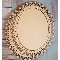 2053 Рамка для оформлення вишивки декоративна, овальна, внутрішній розмір рамки: 15*20см. Alisena