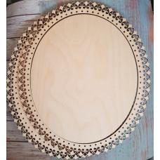 2055 Рамка для оформлення вишивки декоративна, овальна, внутрішній розмір рамки: 30*25см. Alisena