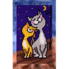 X2311 Закохані коти. Bambini. Набір для вишивання нитками на канві з нанесеним малюнком