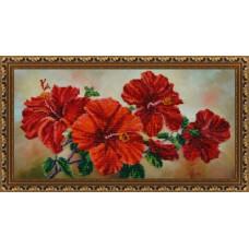 Р-122 Китайська троянда. Картини бісером. Набір для вишивання бісером(Знятий з виробництва)