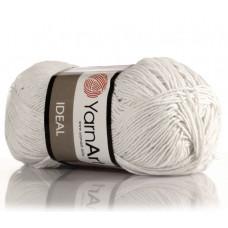 220 Пряжа Ideal 50гр - 170м (Білий) YarnArt