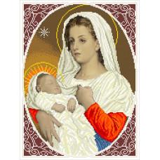 МДМ Мадонна з дитиною ( милість ). БС Солес. Схема на тканині для вишивання бісером