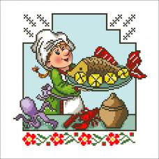 ВК-07 Весела кухня 7. БС Солес. Схема на тканині для вишивання бісером
