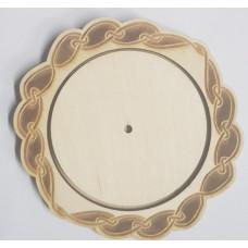 2404-1 Основа для ігольніци, зовнішній коло 12,5*12,5 см, внутрішній коло 9*9 см. Alisena. Заготовка з фанери