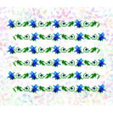 K274 Дзвіночки (20х30 см). Confetti. Водорозчинний флізелін з малюнком