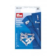 265223 Гачки для штанів і спідниць 9 мм (чорного кольору). Prym