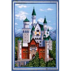 TS60 Замок Нойшванштайн. Quick Tapestry. Набір для вишивання нитками на канві з нанесеним малюнком