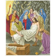 ХД-14 Тіло Ісуса кладуть до гробу. БС Солес. Схема для вишивання бісером