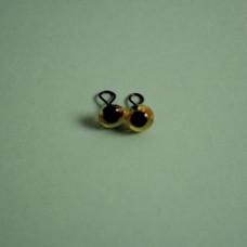 289-82500-00-6mm-10090 Скляні очі, коричневий, діаметр 6мм, Чехія. Чарівна Мить
