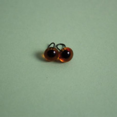 289-82500-00-6mm-10110 Скляні очі, темно-коричневий, діаметр 6мм, Чехія. Чарівна Мить