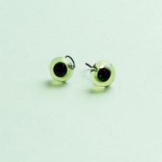 289-82500-00-6mm-50412 Скляні очі, зелений, діаметр 6мм, Чехія. Чарівна Мить