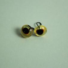 289-82500-00-8mm-10090 Скляні очі, коричневий, діаметр 8мм, Чехія. Чарівна Мить