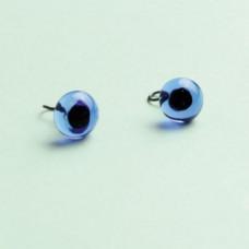 289-82500-00-8mm-30062 Скляні очі, блакитний, діаметр 8мм, Чехія. Чарівна Мить