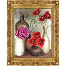 170060 Квіти світу-1. DOME CRAFT. Набір для малювання камінням