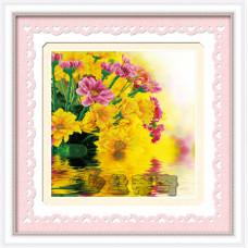 170052 Квіти біля води. DOME CRAFT. Набір для малювання камінням