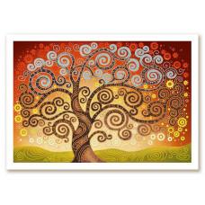 БИС0282 Дерево щастя. Нова Слобода. Схема на тканині для вишивання бісером