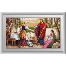30481 Ісус, Марфа і Марія. Dream Art. Набір діамантового живопису (квадратні, повна)