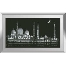 31599 Нічна мечеть. Dream Art. Набір діамантового живопису (квадратні, повна)