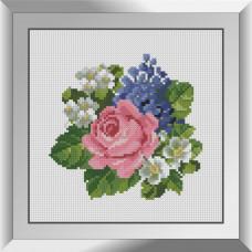 31623 Букетик з польовими квітами. Dream Art. Набір діамантового живопису (квадратні, повна)