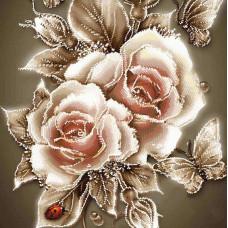 ТА-090 Карамельні троянди. Тела Артіс. Схема для вишивання бісером