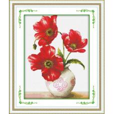 1828 Маковий цвіт. DIY. Набір для малювання камінням