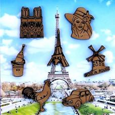 03D Франція. Butterfly. Набір декоративних гудзиків