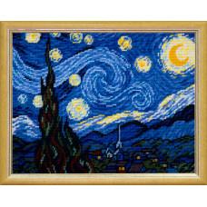 TL40 Зоряна ніч. Вінсент ван Гог. Quick Tapestry. Набір для вишивання нитками на канві з завдано