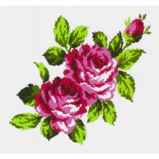 K296 Букет троянд (20х30 см). Confetti. Водорозчинний флізелін з малюнком