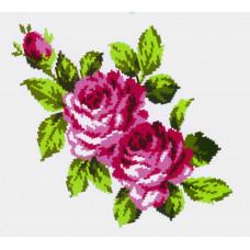 K304 Букет троянд (20х30 см). Confetti. Водорозчинний флізелін з малюнком